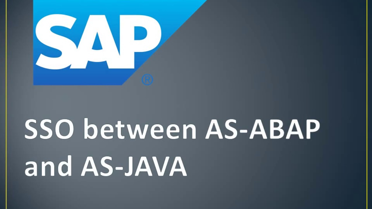 SAP SSO for AS ABAP and AS JAVA