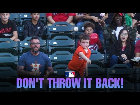 Sean Salisbury - Young Astros Fan Shocks Dad By Throwing Back Alex Bregman Home Run