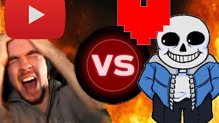 **OLD** Youtubers React T๐ Beating Sans