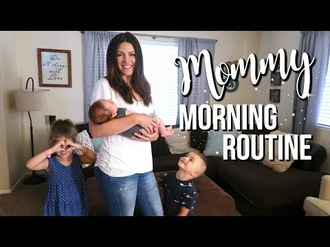 SUMMER MOMMY MORNING ROUTINE // Stay At Home Mom Of Three // Newborn Routine. http://bit.ly/2Q6cQQf