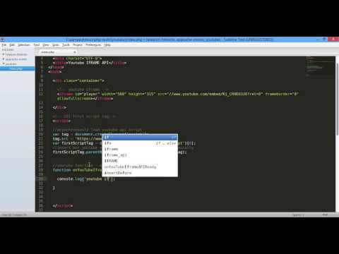 01  Easy   Youtube Iframe API   Iframe Id, OnReady And OnStateChange Events And The Thor  Dark World
