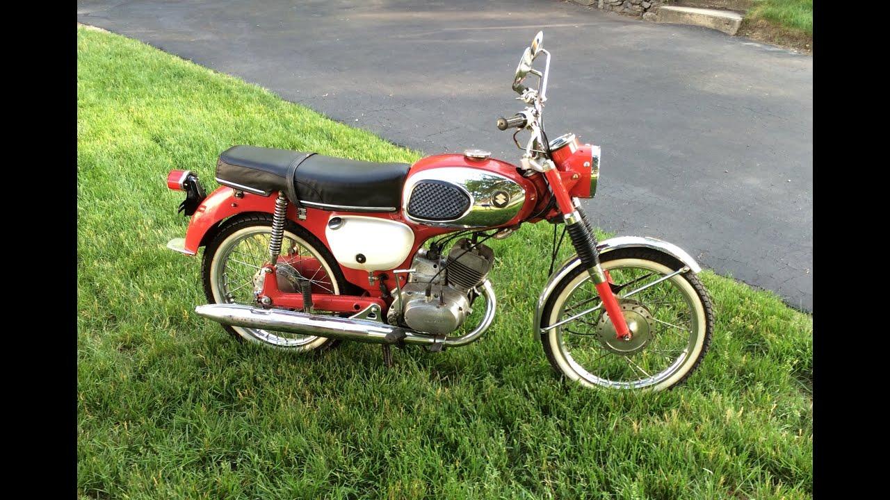 for sale 1966 vintage suzuki b100p 125cc two stroke - youtube