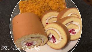 #32 Cách làm bánh bông lan cuộn - Mít Béo