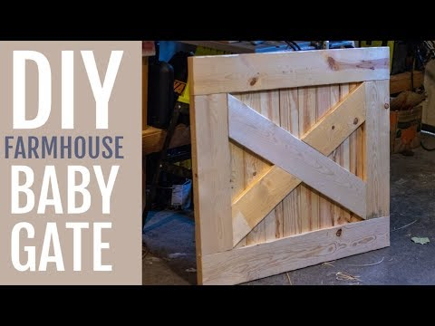 DIY Farmhouse Baby Gate