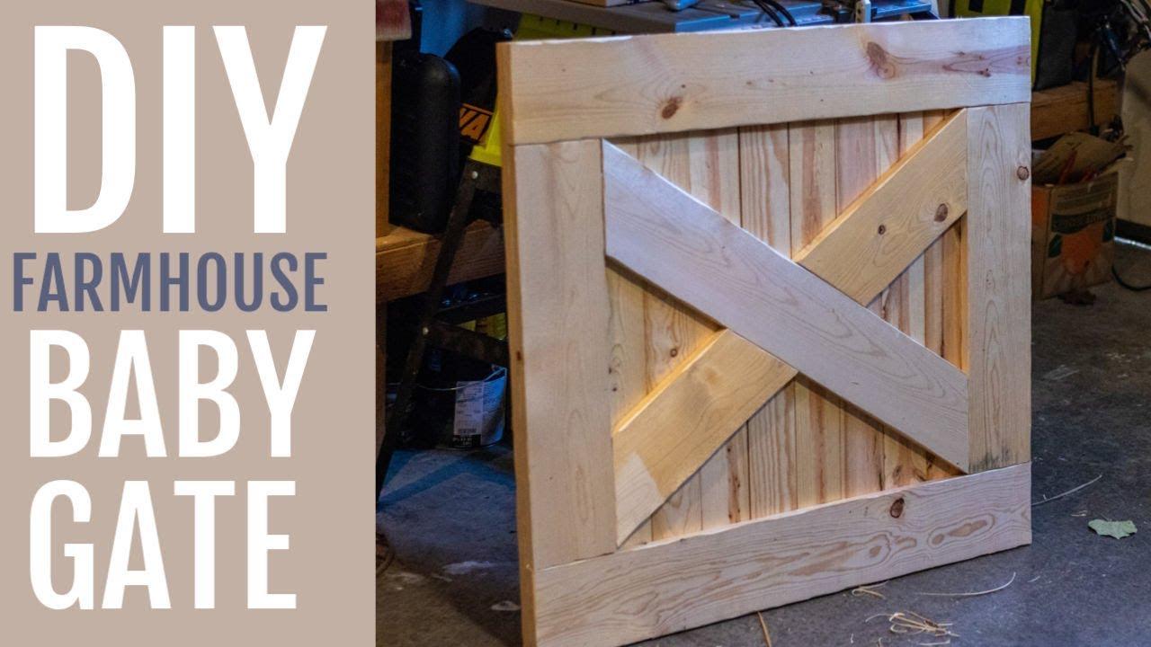 Diy Farmhouse Baby Gate Catz In The Kitchen