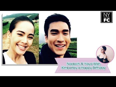 [ENG SUB] Nadech Yaya Wish Kimberley a Happy Birthday | kimmy_kimberleyofp
