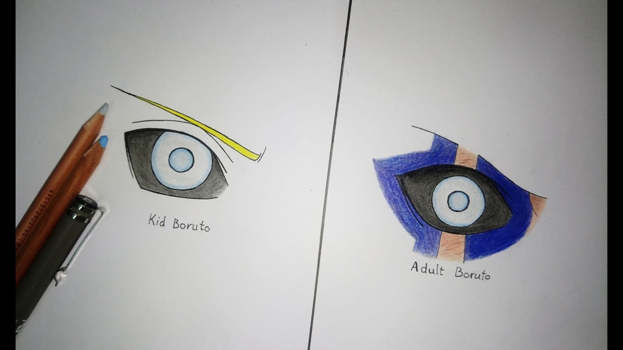 How To Draw Jogan Boruto S Eyes Boruto Naruto Next Generations Youtube