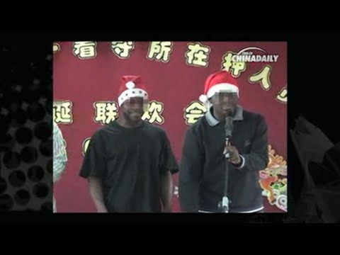 Foreign detainees celebrate Christmas in Beijing