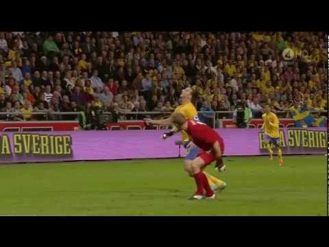 Ibrahimovic rovesciata (Svezia Inghilterra 4-2) HD