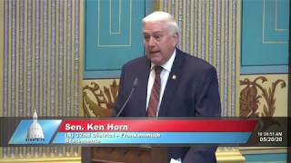 Sen. Horn remembers Marine Sgt. Major Ken Rice of Bad Axe
