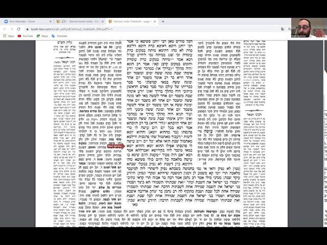 29/03/2020 - Etude Guemara Shabbat (Daf 69b) - Rav Breisacher