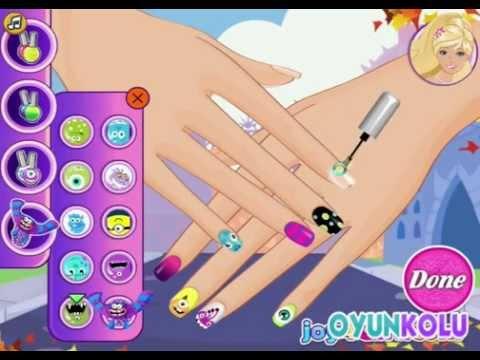 Barbie Tırnak Boyama Oyununun Oynanış Videosu Youtube