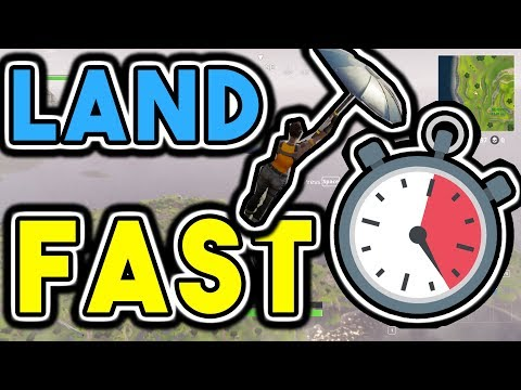 4 Incredible Tricks To Parachute Faster In Fortnite Battle Royale | How To Land Fast In Fortnite: BR