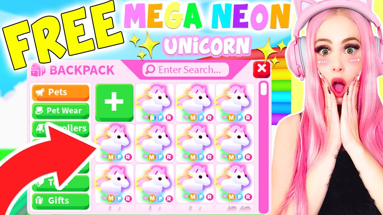 How To Get A Free Mega Neon Unicorn In Adopt Me Roblox Adopt Me Mega Neon Update Youtube