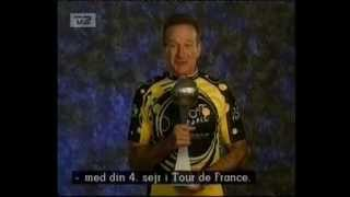 Tour de France 2003: Robin Williams tale til Lance Armstrong