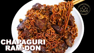 The BEST Chapaguri Ram-Don Recipe with Steak | From Movie Parasite