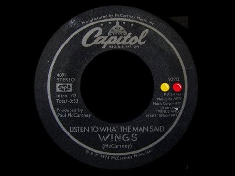 Wings ~ Listen To What The Man Said 1975 Disco Purrfection Version
