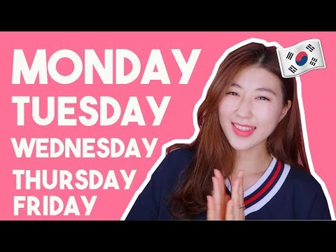 Days of the Week in Korean! (Must-Know)