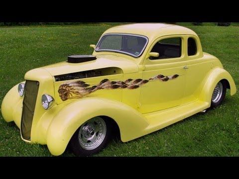 400 Turbo Transmission >> Supercharged 1935 Dodge Hot Rod Pro Street Coupe - YouTube