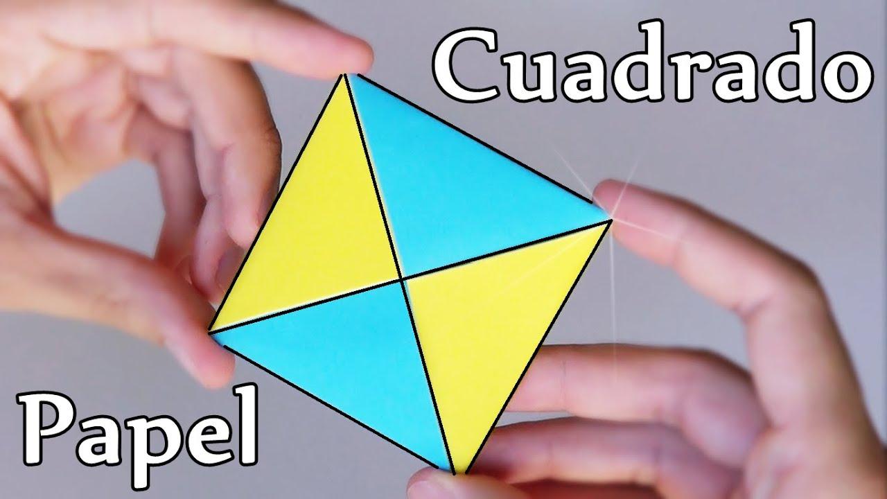 C mo hacer un cuadrado de papel origami f cil youtube - Como hacer un estor enrollable paso a paso ...