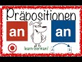 German Prepositions (2) - AN - simpel & with pics