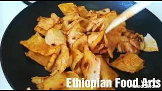 Ethiopian Food - የጨጨብሳ አሰራር - How to make Chechebsa - Ethiopian Food Chechebsa - Amharic - አማርኛ