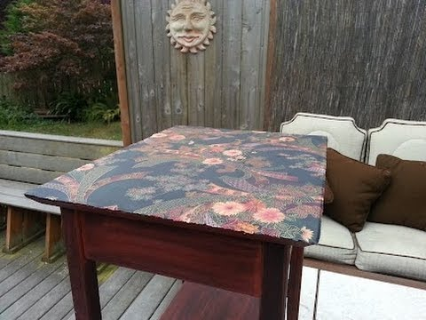 Get Your Craft On How To Jazz Up A Table Top With Fabric