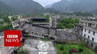 Sichuan earthquake: The ghost town visited by millions - BBC News thumbnail
