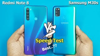 Redmi Note 8 vs Samsung M30s Speed Test / Comparison || Antutu Benchmark Scores
