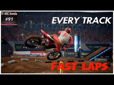 Monster Energy Supercross 3 - Hot Laps On EVERY Track!