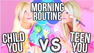 High School You VS Child You Morning Routine!