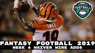 2019 Fantasy Football- Week 6 Waiver Wire Adds (Players to Stash)