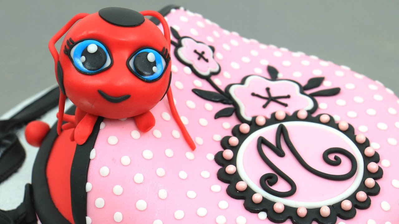 ladybug tikki purse cake how to make by cakesstepbystep youtube