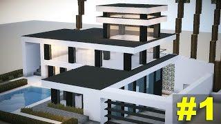Minecraft: Tutorial casa MEGA moderna #1
