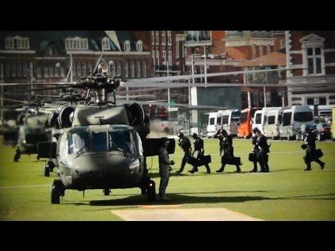 US Secret Service Counterassault Team (CAT) vertrek Museumplein