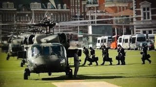 US Secret Service Counterassault Team (CAT) vertrek Museumplein
