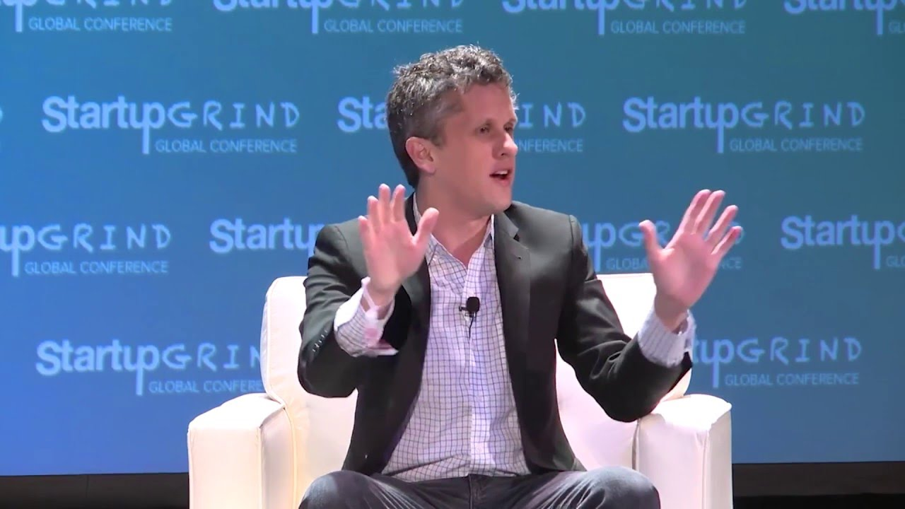 Aaron Levie (Box) and Michal Lev-Ram (Fortune) at Startup Grind ...