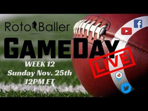2018 Fantasy Football Advice Rotoballer Gameday Live Week 12 Q