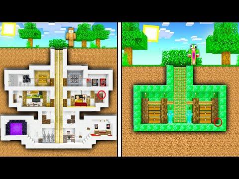 @Moose VS @UnspeakableGaming Underground Minecraft Mansion Build Battle!