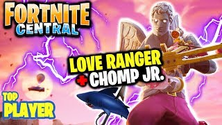 Love Ranger Skin & Chomp JR. (Gameplay) // FORTNITE BATTLE ROYALE // Top Player