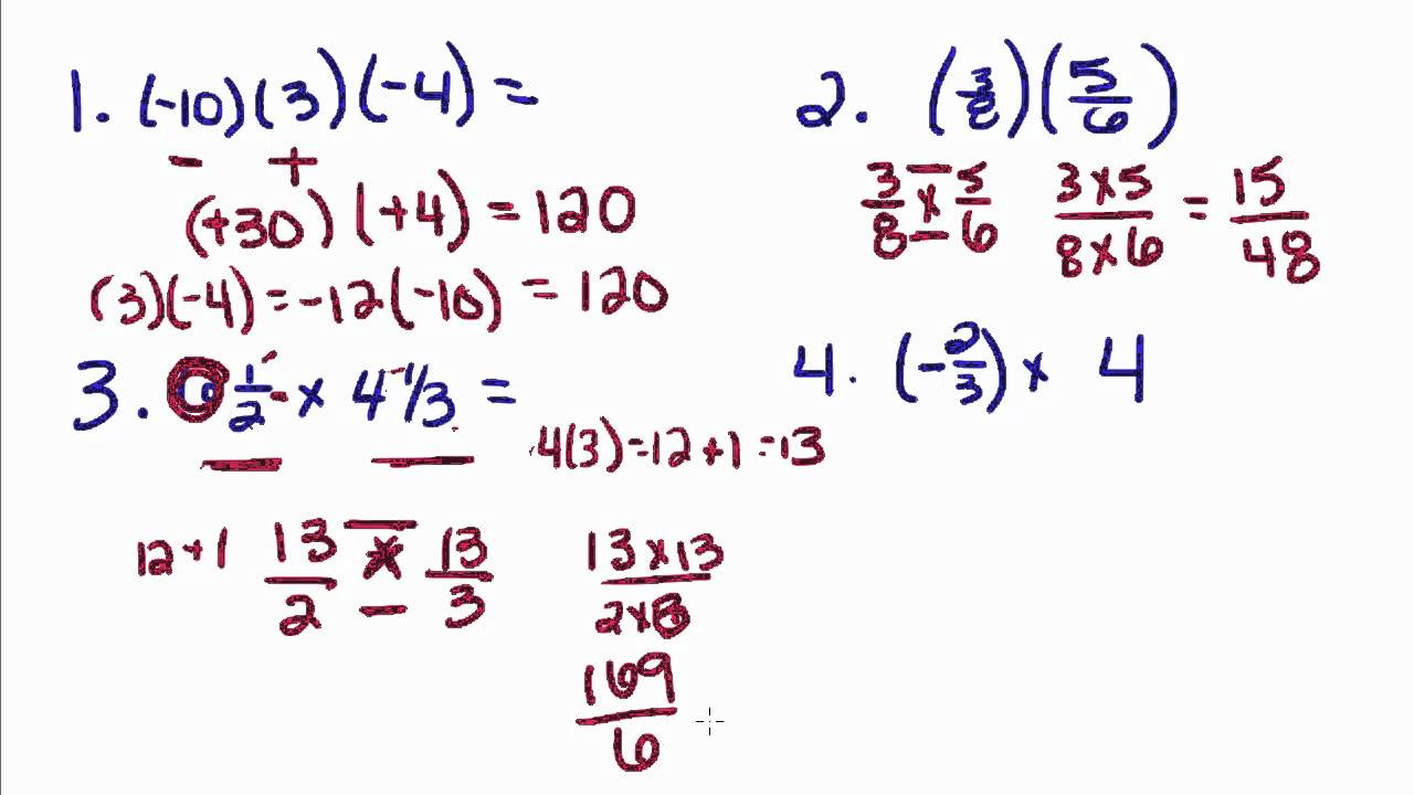 Algebra Tutorial  1  Multiplying And Dividing Real Numbers