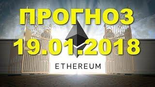 ETH/USD - Эфириум Etherium прогноз цены / график цены на 19.01.2018 / 19 января 2018 года