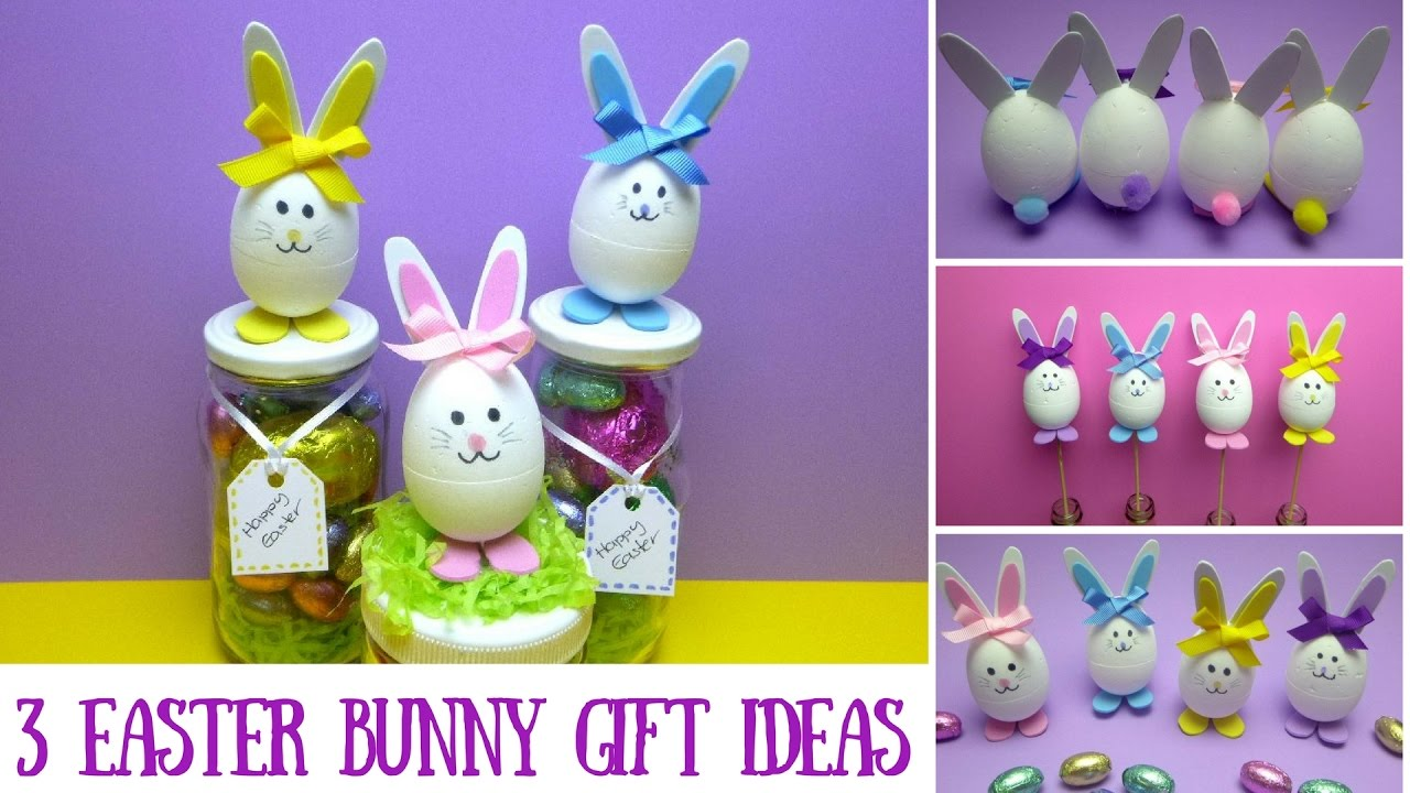 Easter crafts 3 easter bunny gift ideas mason jar crafts youtube easter crafts 3 easter bunny gift ideas mason jar crafts negle Images