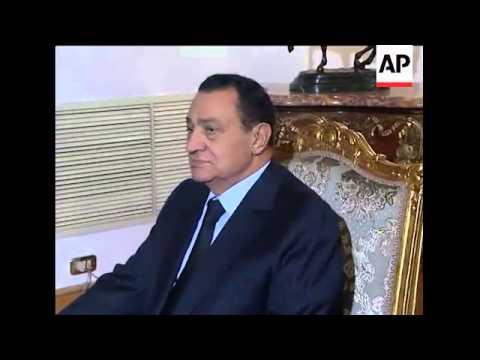 Egyptian President Mubarak meets visiting Israeli PM Netanyahu