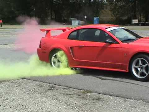 Kumho Ok Tires Cobra R Color Smoke Burnout Youtube