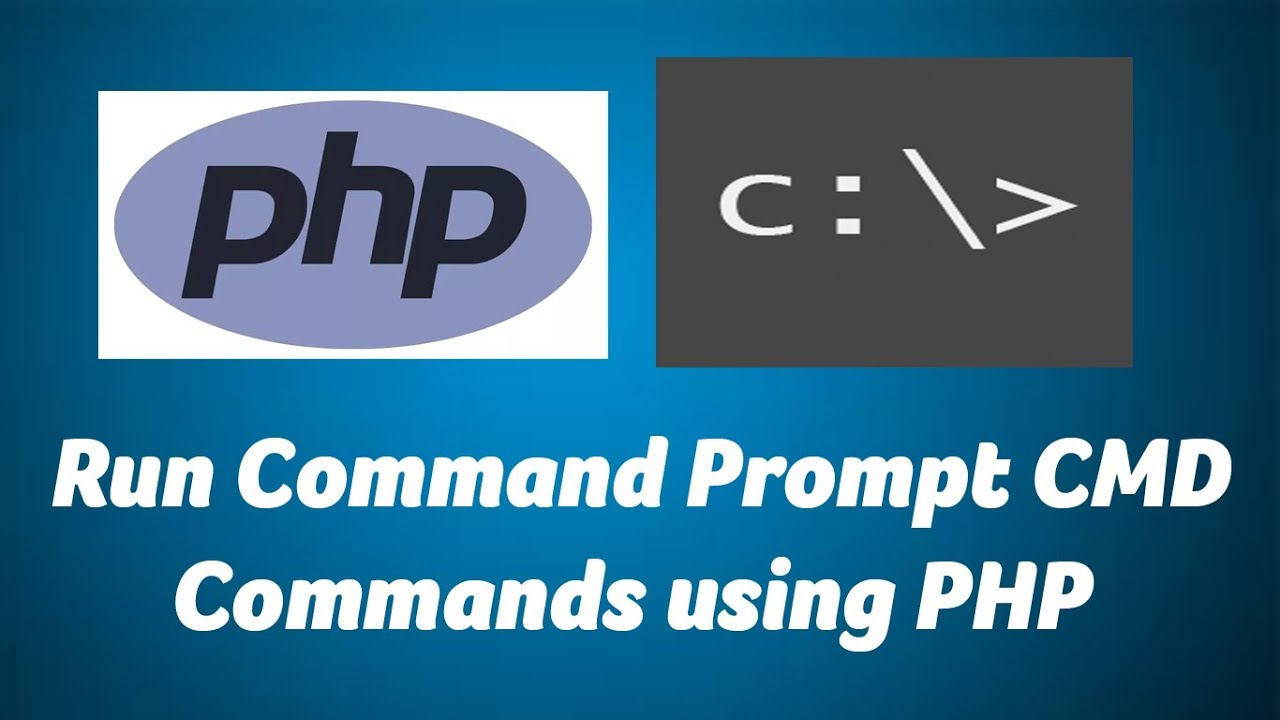 Run command prompt commands from PHP page
