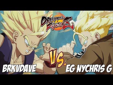 BRKVDave(Teen Gohan/Majin Buu/SSJ Vegeta) Fights EG NYChris G(Android 18/Trunks/SSJ Vegeta)[DBFZ]