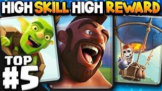 Top 5 HIGH SKILL DECKS in Clash Royale (Ladder Edition)