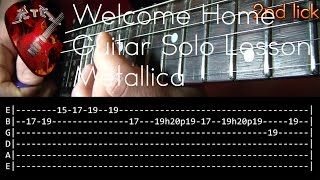 Welcome Home (Sanitarium) Guitar Solo Lesson - Metallica (with tabs)
