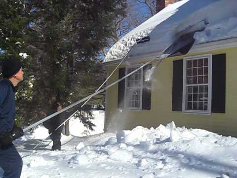 Roof Razor 174 Roof Rake Removing Snow In Sudbury Ma Part